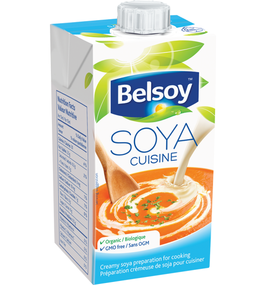 Plant based cream variation small soya cuisine belsoy for Alpro soya cuisine light