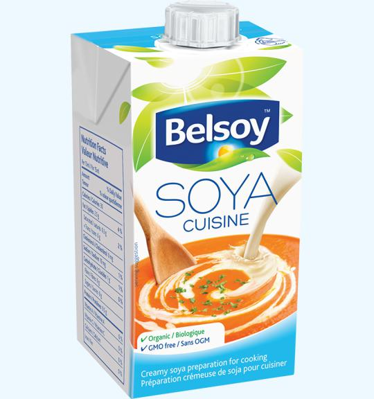 Plant based cream variation small soya cuisine belsoy for Alpro soja cuisine