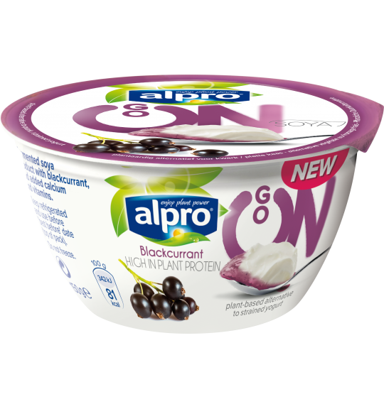 Product packaging of Alpro Go On Blackcurrant