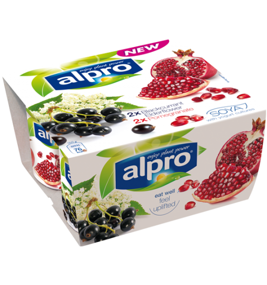 Product packaging of Alpro Blackcurrant with Elderflower & Pomegranate