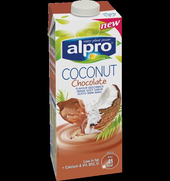 Tuotepakkaus Alpro Kookos-suklaajuoma