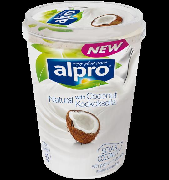 Tuotepakkaus Alpro Natural Kookoksella
