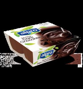 Produktpakning av Alpro Soyadessert Mørk Sjokolade