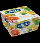produktemballage til Alpro Blodappelsin og Citron med Lime