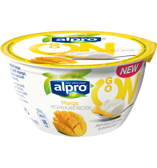 Product packaging of Alpro Go On <br/>Mango