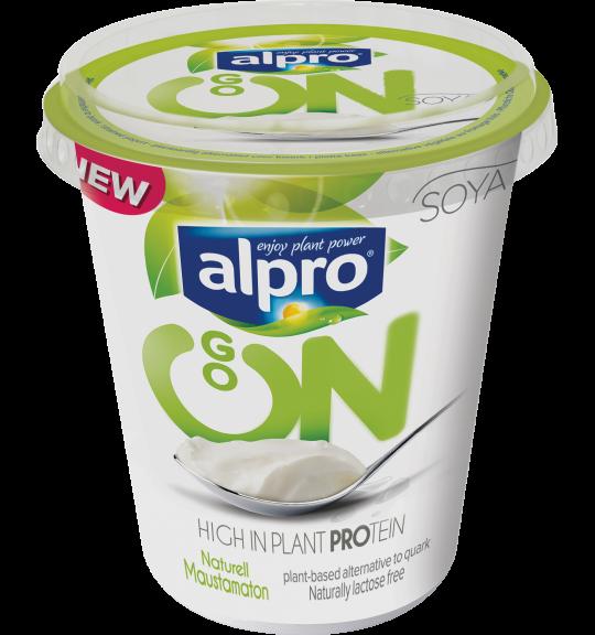 Produktförpackning av Alpro Go On Naturell