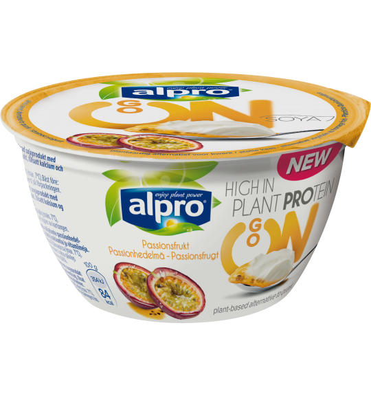 Produktpakning av Alpro Go On Pasjonsfrukt