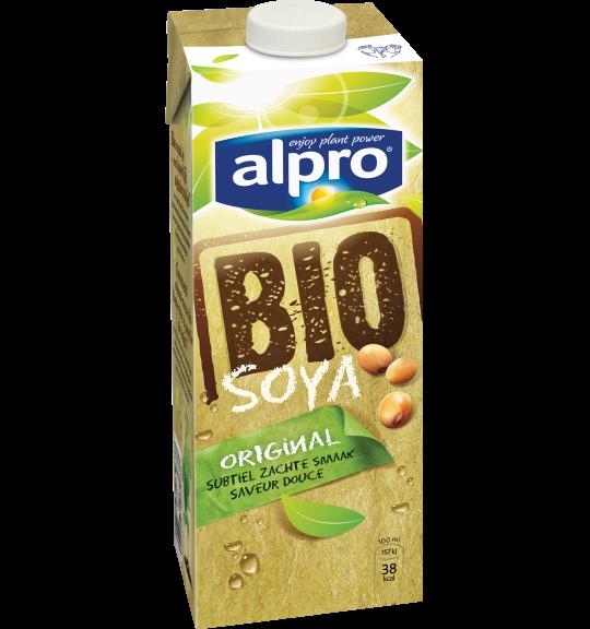 L'emballage du produit  Alpro Soja Bio Original
