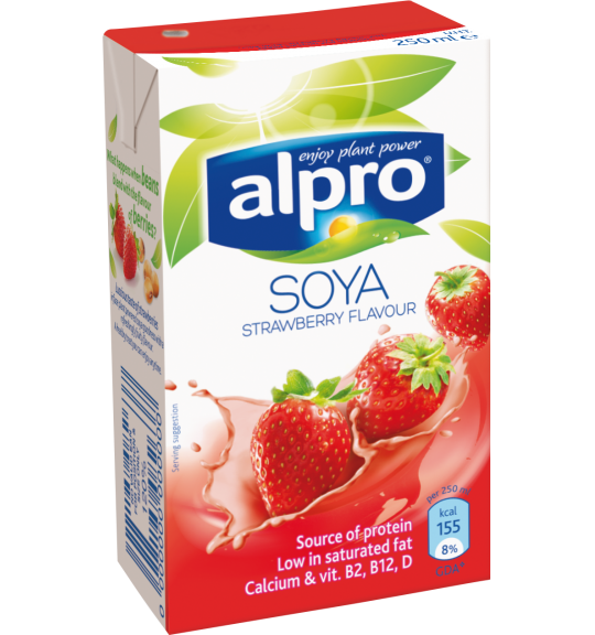 Alpro soya flavoured drink strawberry for Alpro soya cuisine light