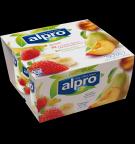 Produktförpackning av Alpro Jordgubb med Banan & Persika med Päron
