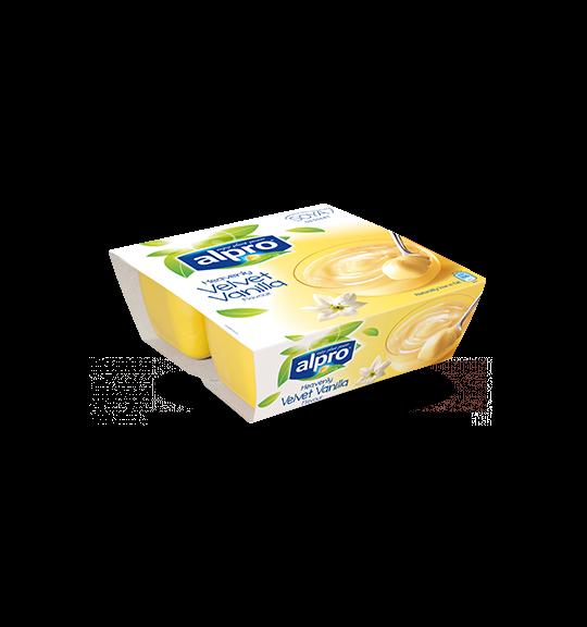 Product packaging of Alpro Heavenly Velvet Vanilla Dessert