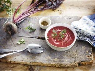 Rote Bete Suppe mit asiatischem Touch