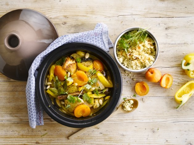 Oriental Apricot Chicken Tagine
