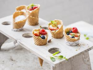 Summery fruit cones