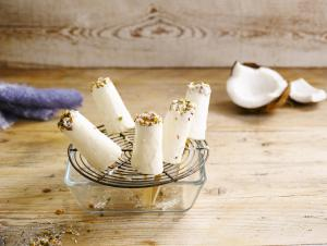 Mini Coconut ice lollies