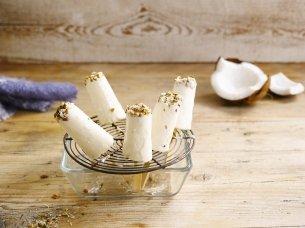 Mini Coconut ice lollies