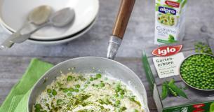 Erbsen-Quinoa-Risotto