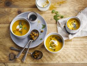 Carrot Soup with a Cashew Cream