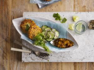 Fish Cakes with Mango Chutney