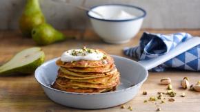 Pancake pera e pistacchio