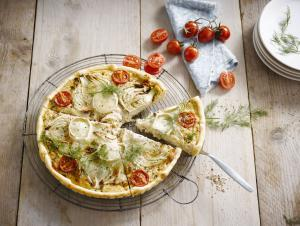 Savoury Quiche with fennel