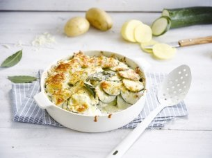 Gratin Dauphinois met courgette