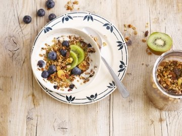 Granola Kiwi & Blåbær morgenmad
