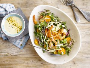 Prawn Salad with a Summer Curry Dressing