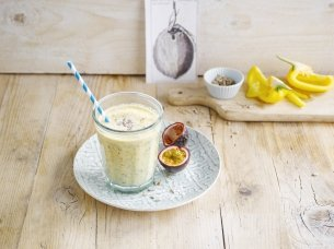 Smoothie fruit de la passion et coco