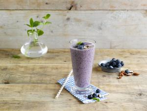 Smoothie myrtille amande