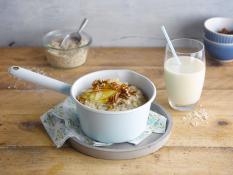 Porridge d'avoine aux pommes et noix