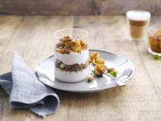 Autumn breakfast with apple & almonds