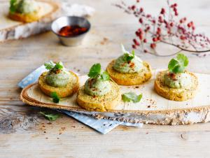Savoury Shortbread with Avocado Mousse
