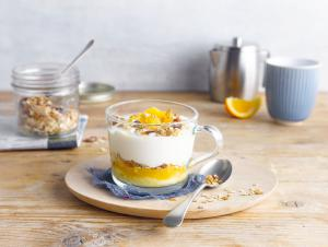 Banana with Orange Muesli