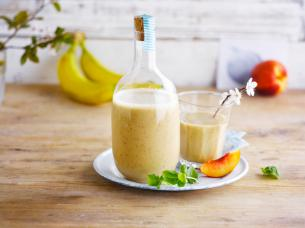The coconut on the beach smoothie