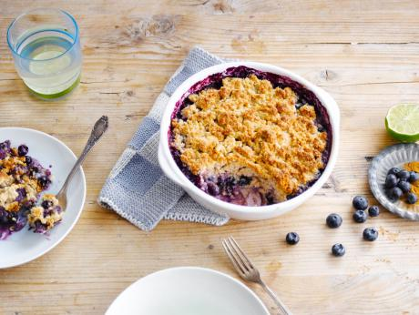 Blueberry & Lime crumble