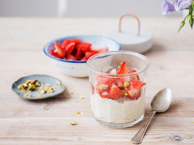 Overnight Oats alle fragole