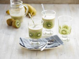 Smoothie noix de coco kiwi banane