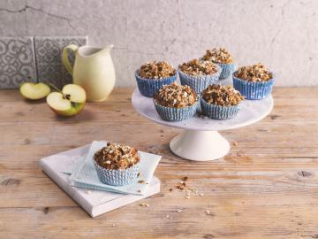 Frukostmuffins med havre och äpple