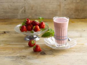 Smoothie avoine fraise