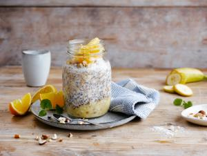 Overnight Oats mit Orange