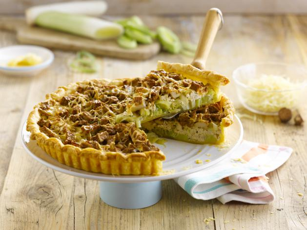 Quiche with Leek & Tofu
