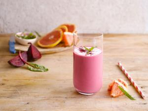 Smoothie velouté rouge uni