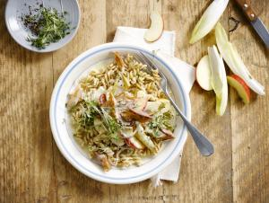 Pasta with Mackerel, Chicory & Apple