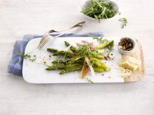 Espargos Verdes com Presunto e Queijo Parmesão