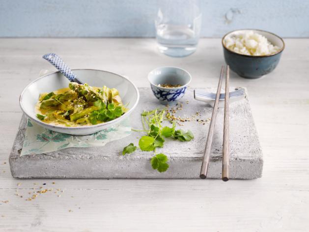 Asparagus asian wok recipe inspiration alpro for Alpro coconut cuisine