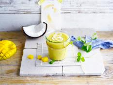 The yellow coconut island smoothie